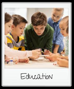 education - children investigating technology