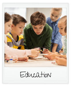 education - children investigating technology